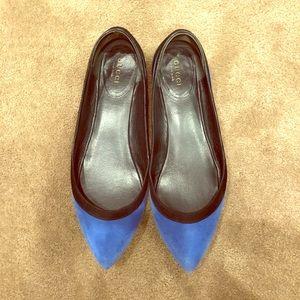 Authentic Gucci Suede color block ballet flats,